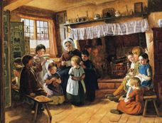 rankley alfred 001 the village school 1855 small